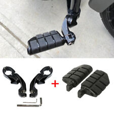 2x Foot Pegs Rest With Clamps For HarleyMotorcycle Touring Dyna Male Pegs Black(Fits: Mastiff)