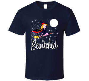 Bewitched Fan Tee Cartoon witch TV Show Classic Logo sorceress T Shirt New