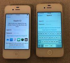 LOT of 2 Apple iPhone 4S 16GB GSM UNLOCKED SPRINT A1332 A1387 Read Description!