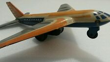 VINTAGE JET AIRPLANE AIRCRAFT TIN TOY FRICTION  RUSSIAN USSR CCCP SOVIET ERA
