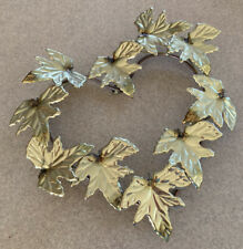 """Home Interior Gold Metal """" Leaf Heart"""" Wall Accent"""