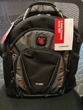 "SwissGear Wenger Synergy Pro 16"" Laptop Computer Backpack - Black/Grey"