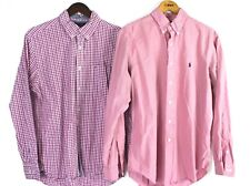 Tommy Hilfiger Ralph Lauren 2 Dress Shirt Mens Size L Pink Long Sleeve Button Up