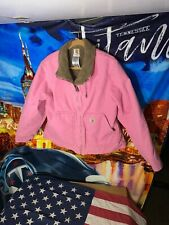 Carhartt For Women Rare Pink Sherpa Lined Jacket Extra Large In Great Condition