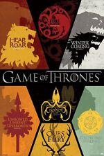 Game of Thrones Sigils Poster - Sigils of Westeros poster - TV Poster
