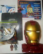 Incomplete Hall of Armor Iron Man 2 MEGA BLOKS # 1959 MARK II & MARK VI Figures