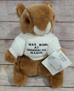 "Vintage Eden Beatrix Potter Plush Squirrel Nutkin Stuffed Animal Brown 11"" New"