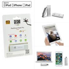 GECHO 32GB iPhone 8/6/6S/7/5S/SE MFi Lightning USB iFlash Pro Storage Pen Drive