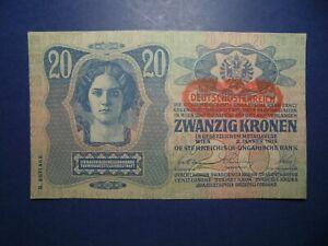 ANTIQUE AUSTRIAN BANKNOTE 1913