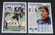 87 MANNINI FIORENTINA FOOTBALL CARD 92 1991-1992 CALCIO ITALIA SERIE A
