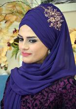 DPND41 Draperie Chiffon Fertig Kopftuch BandanaHazir Türban Sal Tesettür Hijab