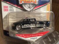 CHEVY 1 ton dually slammed dub city police dept black #99 badge heat  1/64 Jada