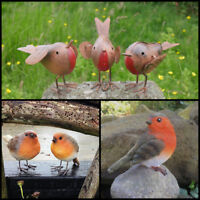 Robin Garden Ornaments Metal/Resin Outdoor Garden Bird Christmas Decoration