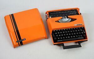 Outstanding Orange Ghia Designed Smith Corona MCM Manual Typewriter