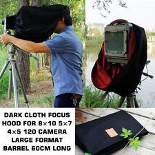 Dark Cloth Focus Hood For 8×10 5×7 4×5 120 Camera Large Format Barrel 60cm Long