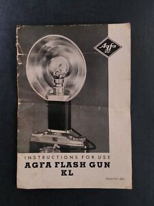 Agfa Flash Gun KL 6821 Instruction Manual English USED Rare