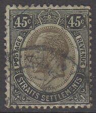 Straits Settlements KGV 45c Black / Green SG208 Used 1914 George V