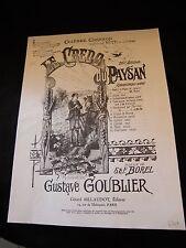 Partitur Le credo du bauer Gustave Goublier groß Format