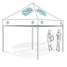10x10 Custom Graphics LOGO Printing Artwork Ez Pop Up Canopy Trade Show Tent