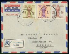 South Sudan 1961 Registered to Munich Germany Airmail Cover wwi14947