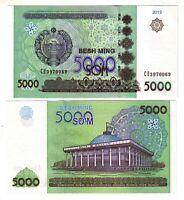 Banknote - 2013 Uzbekistan, 5000 Sum, P83 UNC, Parliament Building, Tashkent (R)