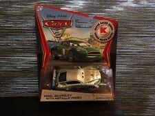 Disney Cars SILVER SILBER NIGEL GEARSLEY WGP RACER K-MART *OVP* Mattel 1:55