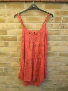 M & S Indigo Orange Sun Dress Size 12 BNWOT NEW