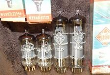 NOS TELEFUNKEN LOT 4 TUBES EL84 / 6BQ5 & GOLD PIN ECC86 NIB W. GERMANY <> BOTTOM