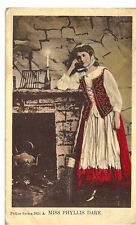 GB vintage Painted lady postcards with 1/2 penny mail 1907