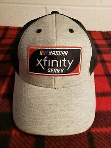 Black & Gray Embroidered NASCAR Xfinity Series Adjustable Hat