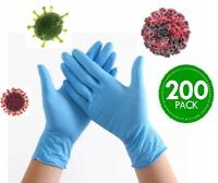 SAME DAY SHIPPING!200 Exam GLOVES Blue Powder-Free Non Sterile Durable Nitrile M