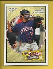 Joe Mauer 2008 Upper Deck Baseball Heroes Card # 101 Minnesota Twins Baseball