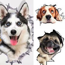 3D Hundeaufkleber Wandtattoo Bild Hund Wandbild Husky Bulldogge Beagle Aufkleber