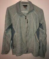 Patagonia Jacket Blue Gray Polartec Fleece Full Zip Coat Women's Size Large L