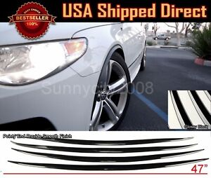 2 Pairs Slim Wide Fender Flare Lip Extension Black Protector Lip For Nissan
