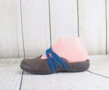 Orthaheel Vionic Brown Teal Slip On Closed Toe Mules Slides Sandals Size 5 (b46)