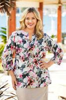 Sara Floral Print Tunic SIZE 1X Ladies UK Size 14-16 RRP £42 NEW BOX85 18 N