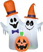 HALLOWEEN 5.5 FT GHOST COUPLE PUMPKIN Airblown Inflatable YARD DECORATION