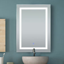 HomCom LED Bathroom Wall Mirror Illuminated Lighted Vanity Mirror w/Touch Button