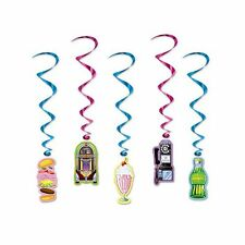 Beistle Soda Shop WHIRLS 34 by 3-feet Multicolor