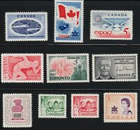 CANADA = 1967 YEAR COLLECTION =  MNH #453, 469-477 = definitives not included
