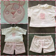 TINY DEE BABY GIRL SHORTS/TOP SET PINK/WHITE 8-12 LB BN GIFT IDEA