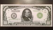 Reproduction United States 1928 $1000 Bill Federal Reserve Note, St Louis Copy