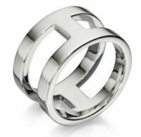 Fred Bennett 925 Polished Sterling Silver Men's Heavyweight Open Wide Band Ring