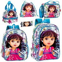 Dora The Explorer Backpack Kids School Rucksack Exploradora Lunch Cooler Bag