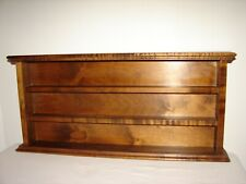 Vintage Wood Display Shelf Collectibles Danbury Mint Thimbals Knick Knacks
