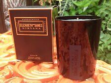 Elizabeth and James NIRVANA Sandalwood Black scented Candle ~ 10 oz New in Box