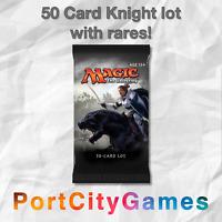 50 Card Knight lot Magic MTG w/ Rares + FREE bonus Rares & Booster Packs!