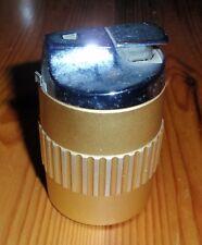 Ronson Vintage Gold & Silver Coloured Barrel Lighter Made in England