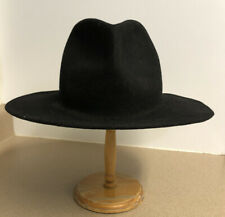 VTG 50s 60s Black 100% Wool Hat Made In USA